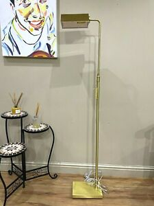 RALPH LAUREN AGATHA O' BANKERS Extendable Floor LAMP Gold Limited edition kw8