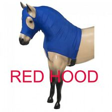"Tough-1 Miniature Mane Stay Lycra Hood --RED  --MEDIUM  --(30""-34"")"