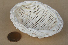 1:12 Scale Hand Made Large Open Wicker Basket Dolls House Miniature Accessory ZG
