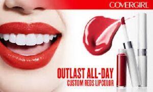 COVERGIRL Outlast All Day Liquid Lipcolor Lipstick Custom Reds CHOOSE COLOUR