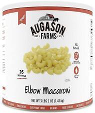 Augason Farms Elbow Macaroni Pasta 3 lbs 2 oz No. 10 Can Emergency Food Storage