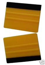 2 X PRO Fieltro Borde Amarillo aspira herramienta de aplicación de envoltura de la etiqueta del vinilo