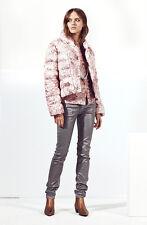 NEW GBP 595  Escada Sport Mandra Puffer Down Jacket Coat Logo Quilt Pink  Sz 38