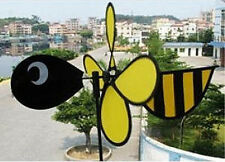 Bumble Bee Wind Spinner Windmill for Patio + Yard + Vegetable Garden for X-Bird