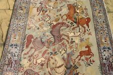 Persian Isfahan Esfahan silk and wool handmade hand knotted rug 175 x 105 cm