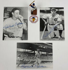 "CHICAGO CUBS BILL ""SWISH"" NICHOLSON SIGNED POSTCARDS (3) & MINI STATUE (1)"