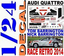 DECAL KIT 1/24 AUDI QUATTRO TOM BARRINGTON RACE RETRO 2014 (03)