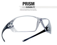 Bolle 40057 Prism Safety Glasses with Black Frame and Clear Anti-Fog Lens