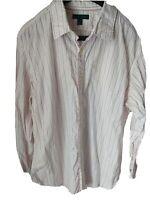 Banana Republic Mens Button Down Long Sleeve Shirt Sz XL Collar 17-17.5