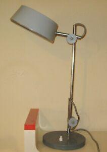 2744* fully adjustable vintage antique metal industrial stand lamp