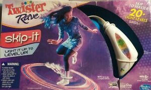 Hasbro Gaming Twister Rave Skip-it Electronic Light Up Game - New In Box
