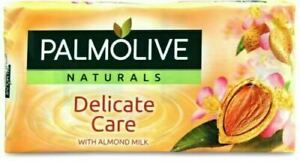 6x 90g PALMOLIVE NATURALS DELICATE CARE SOAP WITH ALMOND MILK GENTLE SKINCARE UK