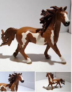 Rare Schleich Horse Stallion AM LIMES 69 Figure Retired D-73527 Brown & White