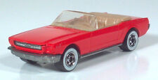"""1983 Hot Wheels Ford 65 Mustang Convertible 3"""" Scale Model Red White Wall Tires"""