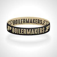 Reversible Purdue Boilermakers Bracelet Wristband Go Boilermakers