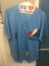 VINTAGE MITCHELL & NESS MONTREAL EXPOS GARY CARTER 1977 #8 JERSEY NEW YORK METS