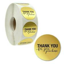 500pcs/roll Thank You For Your Purchase Stickers Round Gold Seal Labels DIY