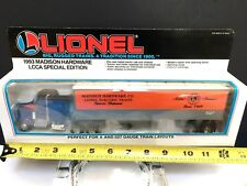 [54210] 1993 LIONEL MADISON HARDWARE LCCA SPECIAL EDITION TRACTOR and TRAILER