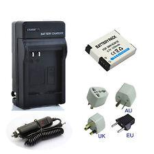 Battery + Charger For Panasonic Lumix DMC-TZ40 DMC-TZ55 DMC-TZ61 Digital Camera