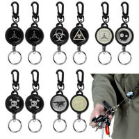 Heavy Duty Retractable Recoil Pull Reel Badge Key Chain Belt Clip ID Card Holder