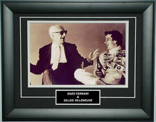 Enzo Ferrari With Gilles Villeneuve Ferrari Photo Frame