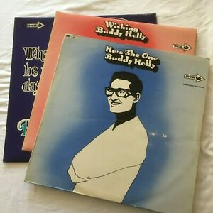 Job Lot Bundle of 3 x BUDDY HOLLY VINYL LPs That'll Be The Day, Wishing, etc