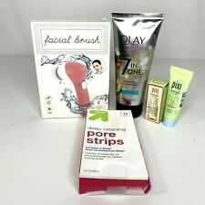 Olay Total Effects Foaming Cleanser Pixi Skintreats Pore Strips Facial Brush Lot