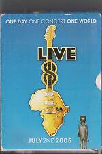 LIVE 8 DVD MUSIC CONCERT 2005 MCCARTNEY COLDPLAY MADONNA CAREY KILLERS U2 FLOYD