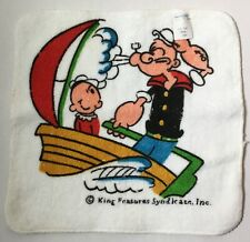 Vintage New Old Stock Popeye Olive Oyl Terry Towel By King Features Syndicate