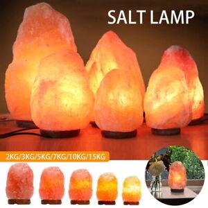 2-15KG Himalayan Salt Lamp Pure Natural Crystal Rock Shape Dimmer Switch Lamp