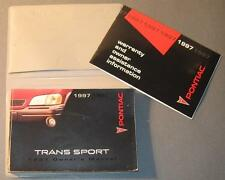 1997 Pontiac Trans Sport (Montana) Owners Manual with Info Book