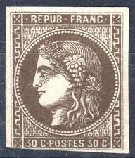 """FRANCE STAMP TIMBRE 47 """" CERES BORDEAUX 30c LIGNE BLANCHE """" NEUF (x) A VOIR P260"""