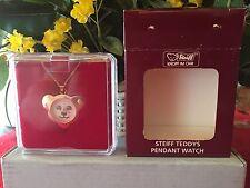 STEIFF  Teddy Pendant Watch, EAN# 606663, Rose, NEW, Mint w/Steiff box