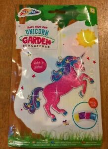 Make your own  unicorn garden sun catcher age 3+