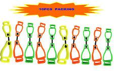 At01-10Ygo 10Pcs Mix Glove Clip Holder Hanger Guard Grabber Catcher Safety Work