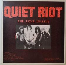 "WHITESNAKE - QUIET RIOT - YOU LOVE US LIVE - PROMO LP - 12"" LP (Y359)"