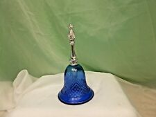 Pretty Vintage Glass Avon Cobalt Blue Bell Perfume Bottle, Empty