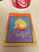 MANGO Surfboards Kirra Australia Neon 80's Original Vintage Surfing STICKER Surf