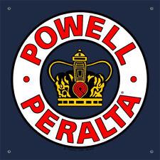 "Powell Peralta Skateboard Shop Banner - Supreme Navy - Vinyl 36"" x 36"""