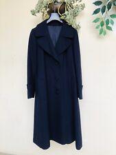 MAX MARA Autentico Cappotto Vintage Lungo coat women blu lana tg 44/46 M