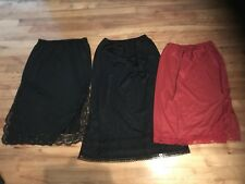 Vintage Half Slip Lot of 5 French Maid Intimate Details Size  S ,M & L