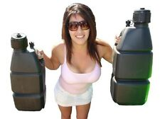 5 Gallon Utility Jug Fuel Gas Water w/Hose Double Handle for Easy Carry