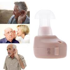 Mini Hilfsmittel Hörgerät Hörhilfe Hörverstärker + Ohrkissen Knopfzellen NEU