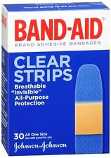 BAND-AID Clear Strips Adhesive Bandages All One Size 30 Each