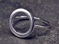 Silberring SCHLICHT Ring Silber 925 Verstellbar Offen Damenringe Damen Schmuck