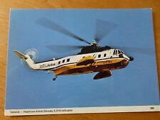 Vintage colour postcard of British Caledonian Airways Sikorsky S-61N G-LINK