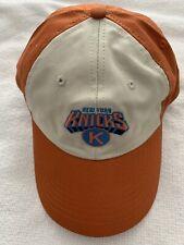 NY KNICKS HAT SGA MSG NBA BASKETBALL ADJUSTABLE CAP KNICKS.COM ORANGE