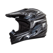 ZOX RUSH C TRYST MOTORCYCLE ATV UTV HELMET SILVER/WHT/BLACK LARGE LG L DOT SNELL