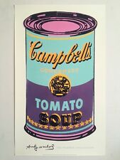 """ANDY WARHOL FOUNDATION LITHOGRAPH PRINT POP ART POSTER """"CAMPBELLS SOUP CAN"""" 1965"""
