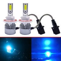 H13 9008 8000K 55W 8000LM Ice Blue LED Headlight Bulb Kit High Low Beam Headlamp